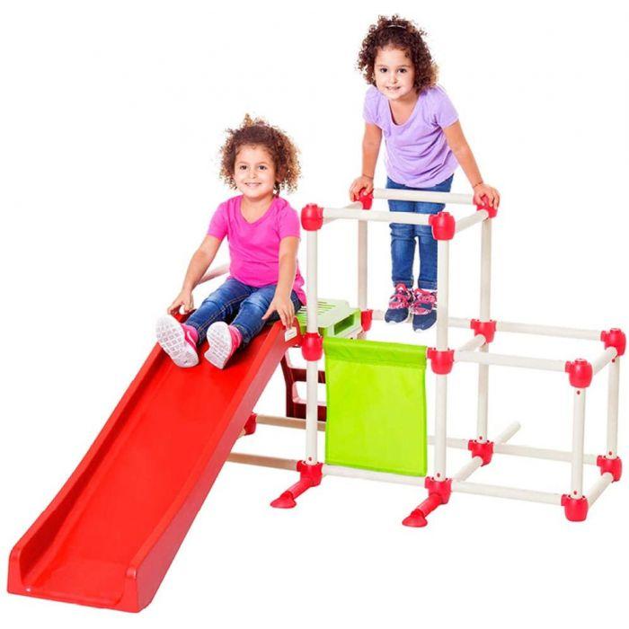 Lil Monkey Olympus Climb n Slide, Foldable Climbing Frame