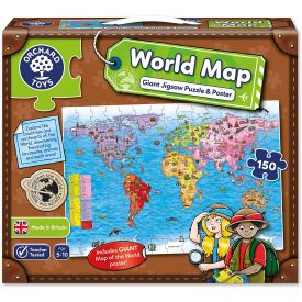World Map Jigsaw Puzzle and Poster
