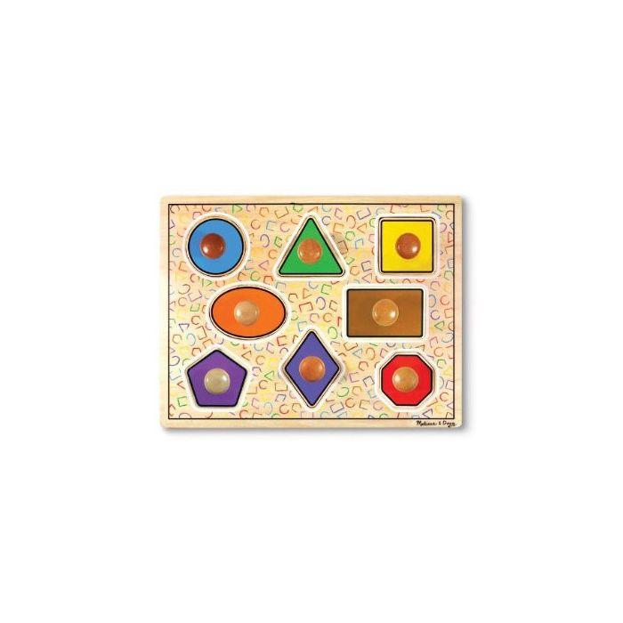 Melissa and Doug - Geometric Shapes Large Peg Puzzle
