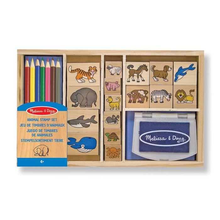 Melissa and Doug - Stamp Set - Animal
