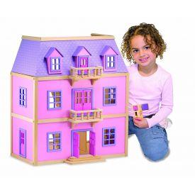 Melissa and Doug - Multi Level Wooden Dollhouse