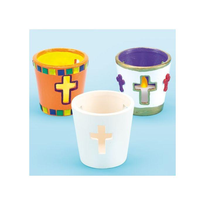 Cross Ceramic Tea Light Holders