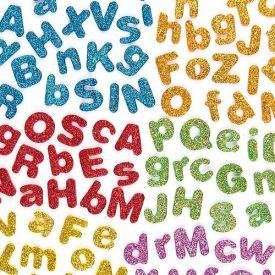 Self-Adhesive Glitter Foam Letters